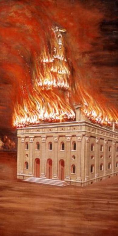 The Burning of the Nauvoo Temple
