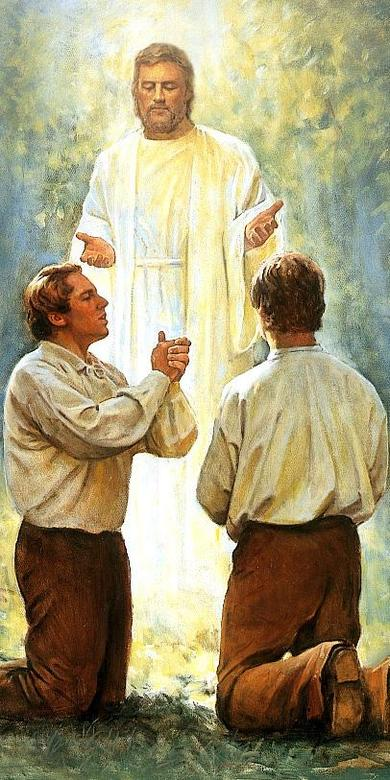 John the Baptist Ordaining Joseph Smith and Oliver Cowdery to the Aaronic Priesthood