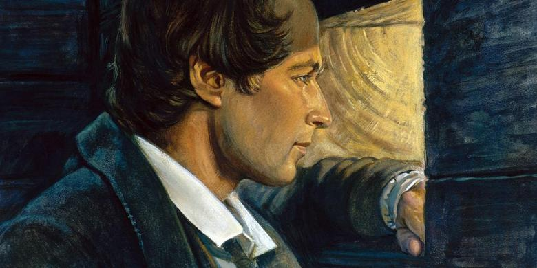 Joseph Smith Looking Out Liberty Jail Window