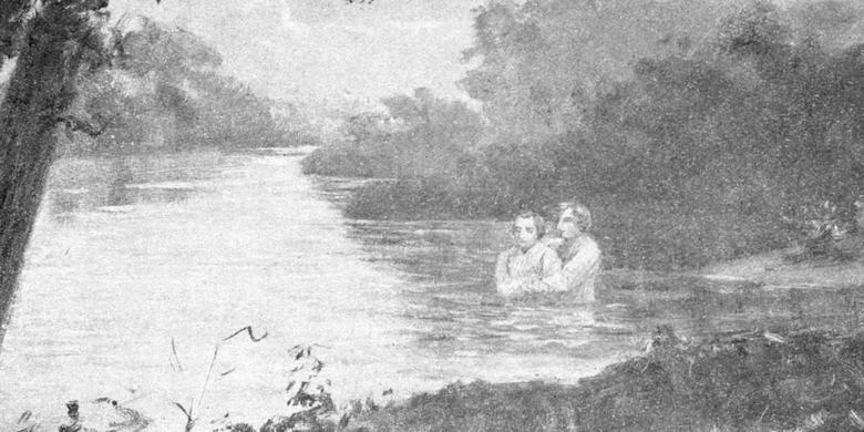 Joseph Smith Baptizing Oliver Cowdery