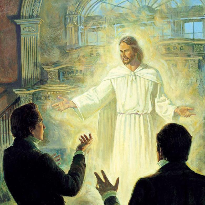 Christ Appearing to Joseph Smith and Oliver Cowdery