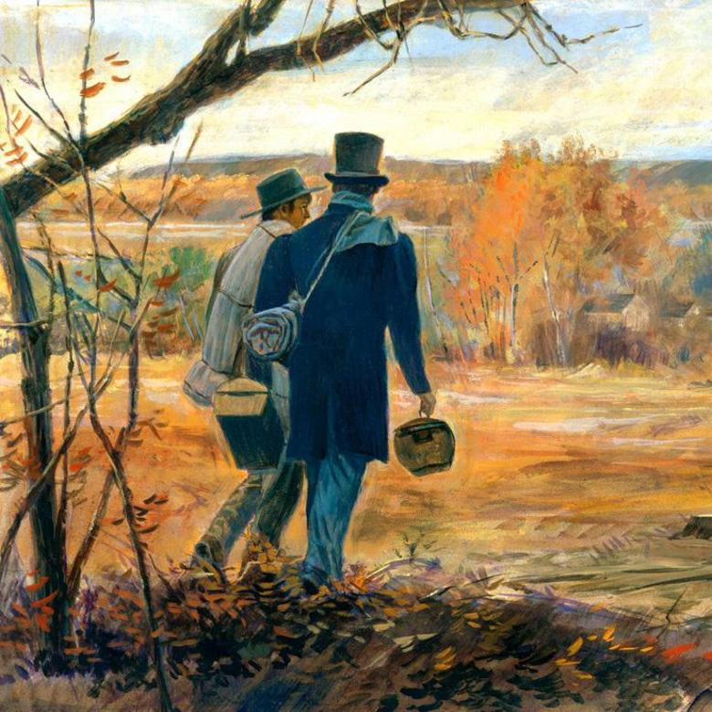 Joseph Smith and Orson Pratt on a Mission to Pennsylvania, 1839