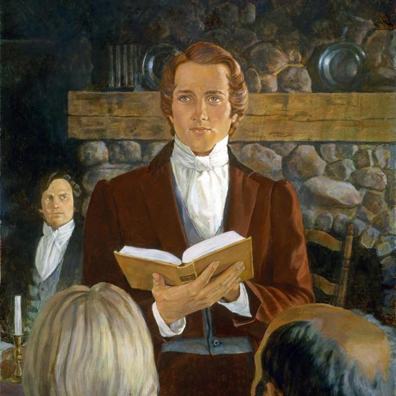 Joseph Smith Preaching from the Book of Mormon