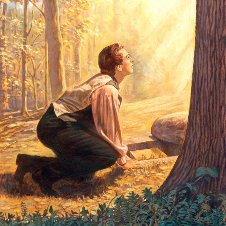 Joseph Smith Getting Ready to Take the Gold Plates from the Ground