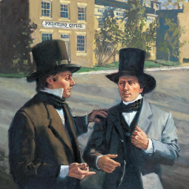Joseph Smith and Brigham Young in Nauvoo