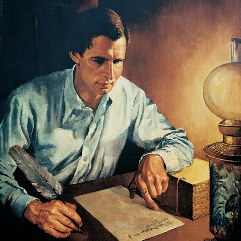Joseph Smith Translating the Golden Plates