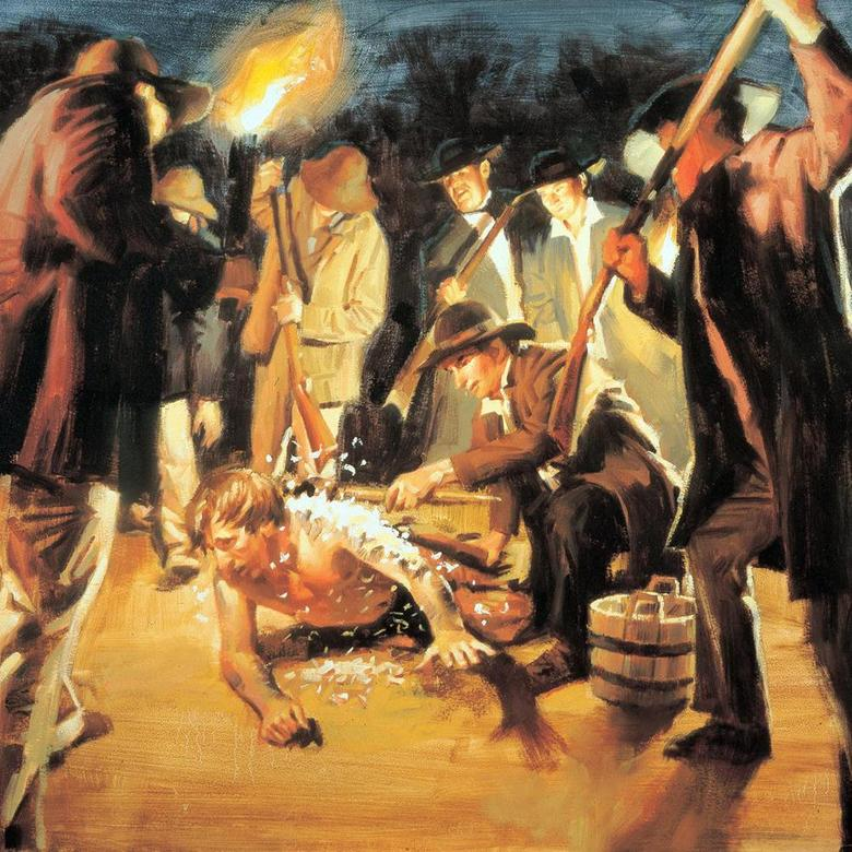 The Prophet Joseph Attacked by a Mob