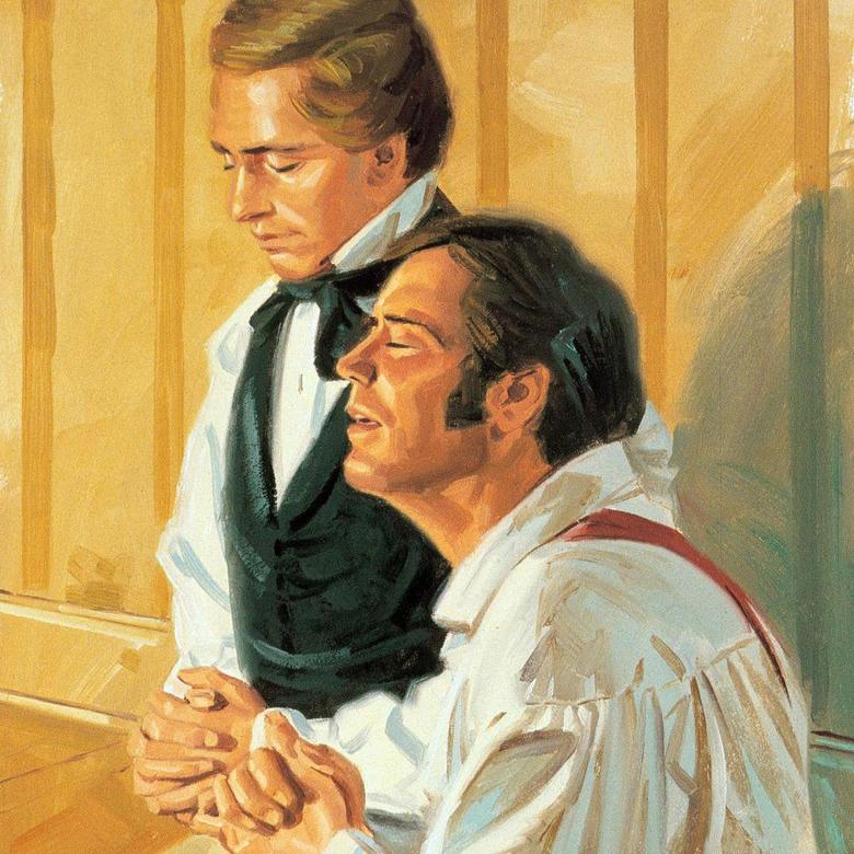 Joseph Smith and Newel Knight in Prayer