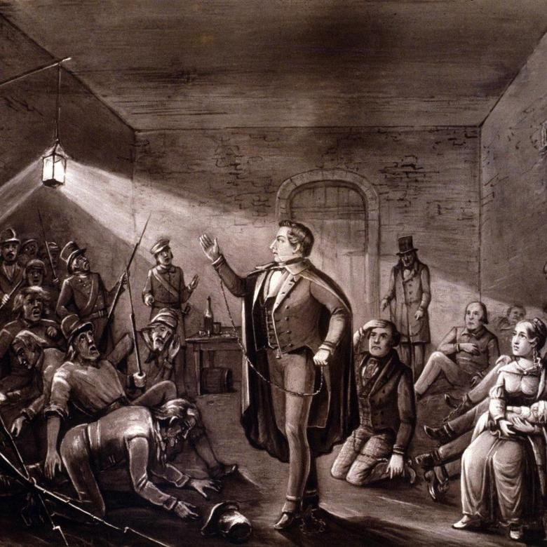 Joseph Rebuking the Guard at Richmond Jail