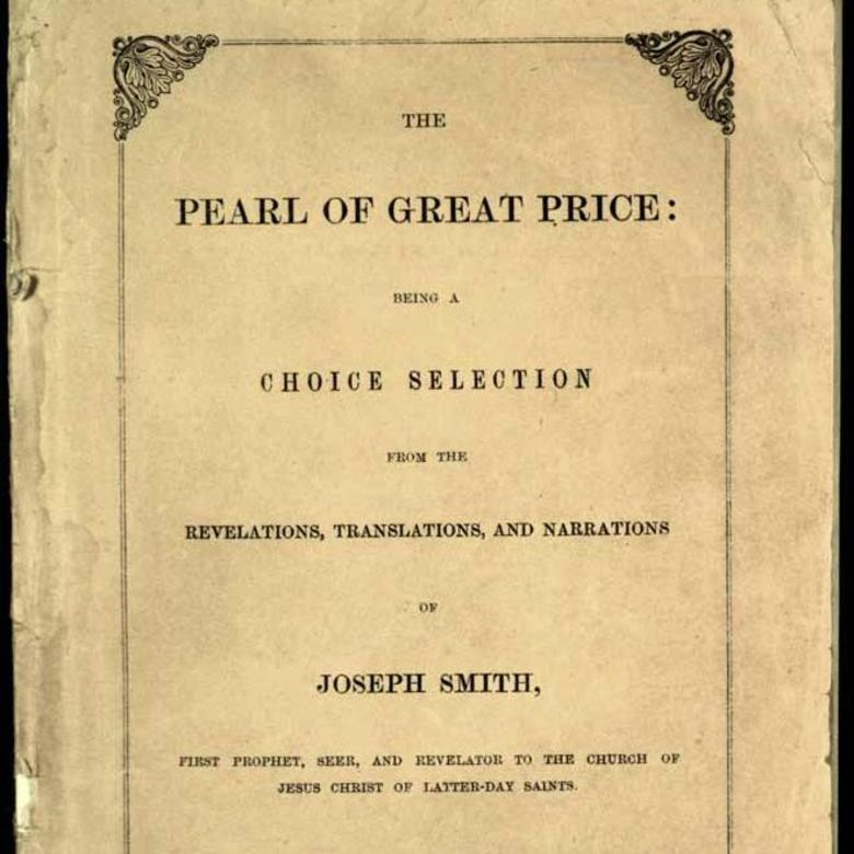 Title Page of First Edition of Pearl of Great Price